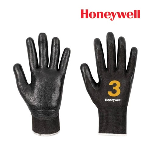 Honeywell Cut Resistance Gloves -Vertigo Check & Go Black Nit 3, Model: 2342552