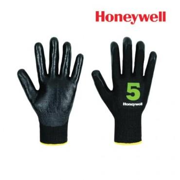 Honeywell Cut Resistance Gloves -Vertigo Check & Go Black Nit 5, Model: 2342555