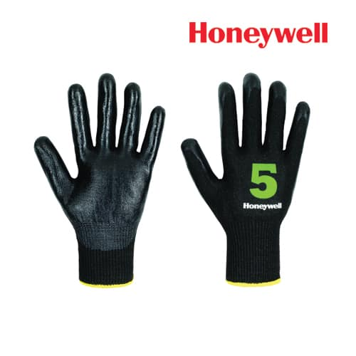 Honeywell Cut Resistance Gloves -Vertigo Check & Go Black Nit 5, Model: 2342555
