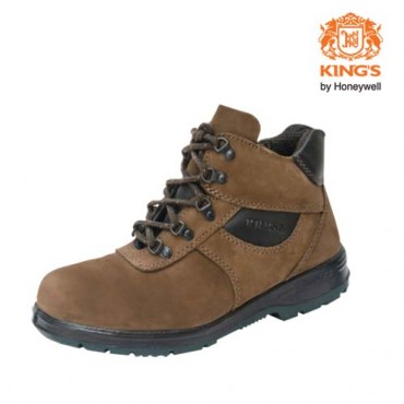 King's Water Resistant Nubuck Leather Laced PU Rubber Safety Boots, Model: KP993KW