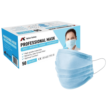 Medical Grade 3-Ply Surgical Mask (50pcs/Box) CE & FDA CERTIFIED