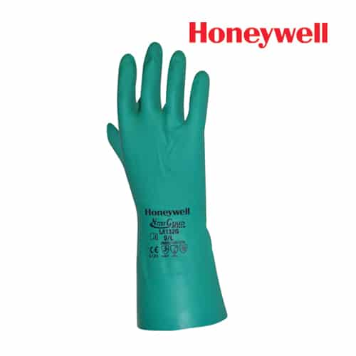 Honeywell Chemical Resistance Gloves-Nitri Guard Plus, Model: LA132G