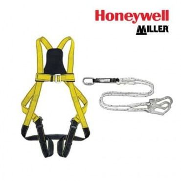 Honeywell Miller Full Body Safety Hardness & Twin Tails Energy Absorbing Lanyard Rope