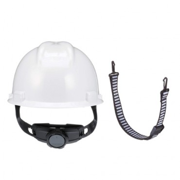 MSA V-Gard Safety Helmet with Fas-Trac III with 2 Points Chin Strap, Model: 475358