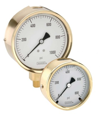 noshok 300 series brass case liquid filled dial in with Datasheet