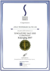 ANSAC is being ranked as Singapore SME 1000 Company by DP Group
