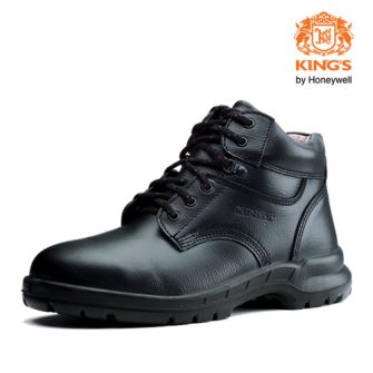 King's Men Wear Mid Cut Safety Shoes by Honeywell   (Size 6)