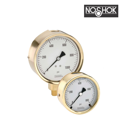 300 Series Brass Case Liquid Filled Pressure Gauge (1/4