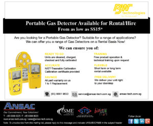 """Portable Gas Detector available for Rent -""""from as Low as S$15.00*"""""""