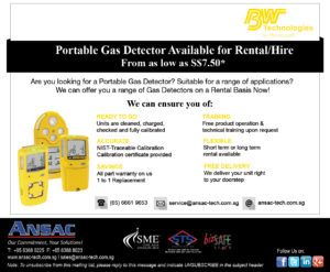 "Portable Gas Detector available for Rent -""from as Low as S$7.50*"""