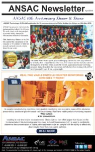 """ANSAC Newsletter-""""18th Anniversary Dinner & Dance"""" & How Does TSI Real Time Viable Particle Counter Work?"""