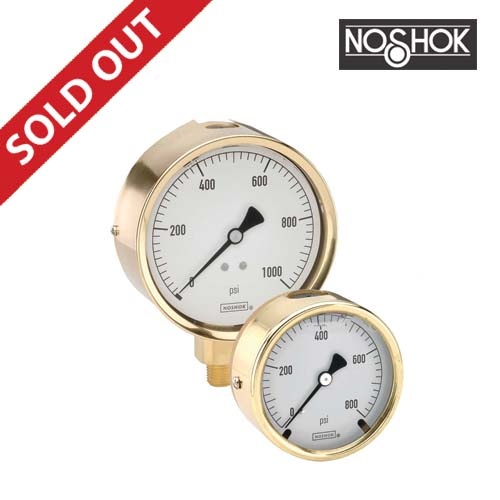300Series Brass Case Liquid Filled Pressure Gauge (1/4