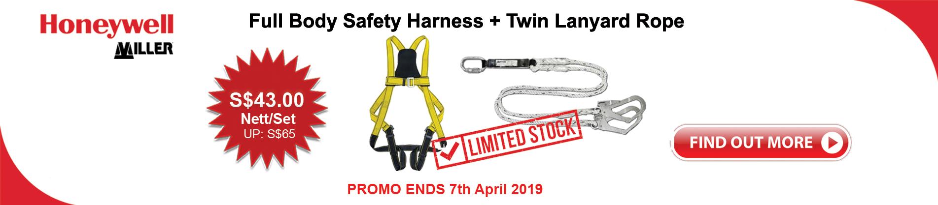 Honeywell Miller Safety harness & lanyard promo
