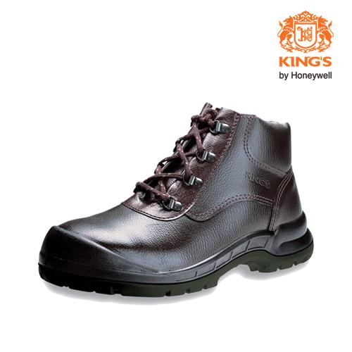 Kings Mid Cut Safety Shoes by Honeywell-Model KWD901K (Dark Brown) (Size (UK) 7)