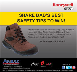 [GIVEAWAY] Enter to Win Honeywell Otter Water Resistant Safety Shoes worth S$139.00/pair!
