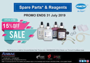 HACH 1 Month Promotion: Spare Parts & Reagents @ 15% Off!