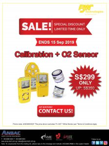 BW Gas Detectors: Calibration + New O2 Sensor @ S$299 Only!