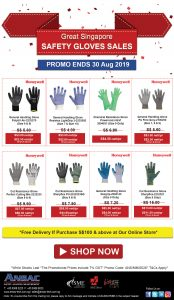 Great Singapore Safety Gloves Sales: Up to 30% Off + Free Shipping Over S$100!